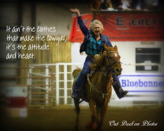 Connie Whiteley At 61 She Is Still Actively Barrel Racing And Pole Bending In Rodeos.