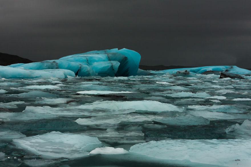 Blue Ice, Jokulsarlon, Iceland.