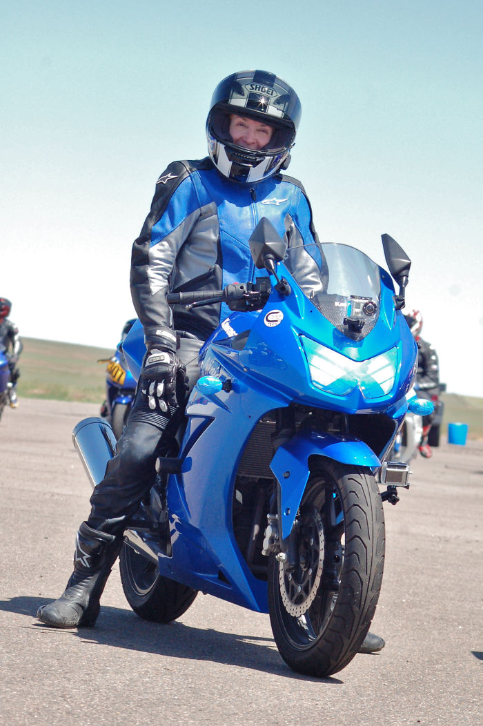Ann M. At 61, Started Riding Sport Bikes At Age 57; Including The Odd Track Day.