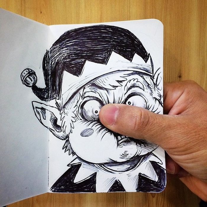 Funny Illustrations Fight With Their Own Creator Bored Panda