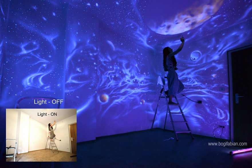 Black Light Bedroom Ideas Part - 50: Allow The Universe To Become A Part Of Your Daily Lifeu2026