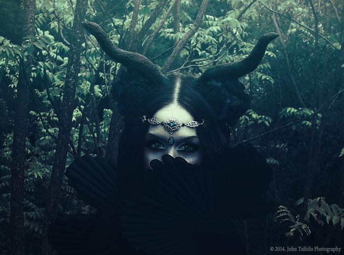 Greek Alternative Model D-plastik Recreates Her Own Dark Fairytale Characters