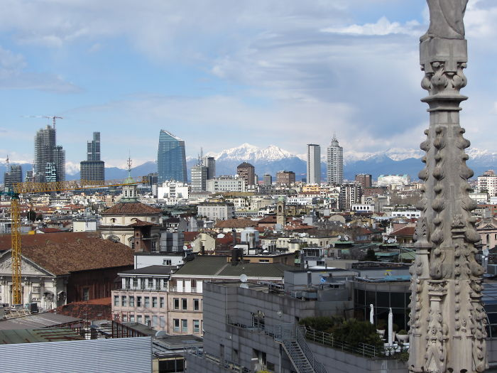 Mighty Alps From Milan, Italy