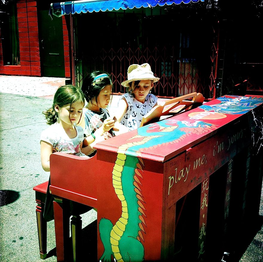 Playing The Blues, In China Town, Los Angeles