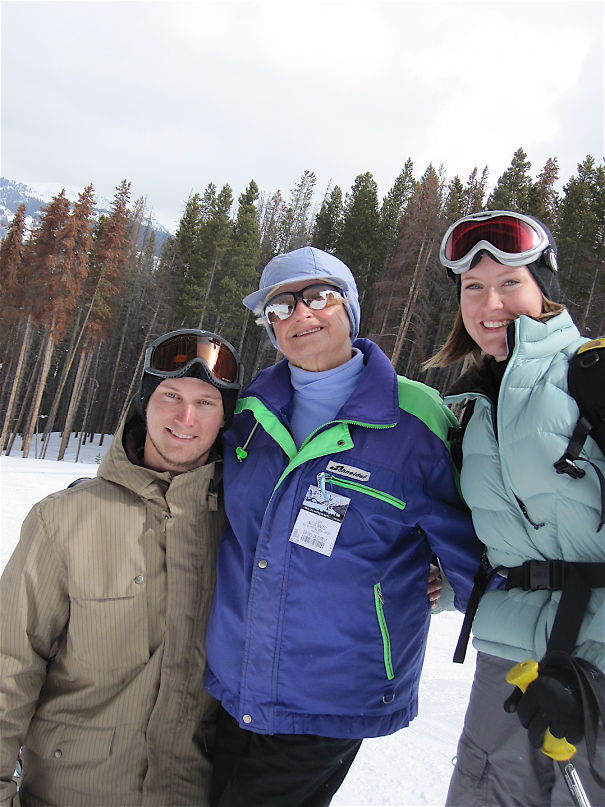 Eloise Snyder, 89, Snow Skiing.