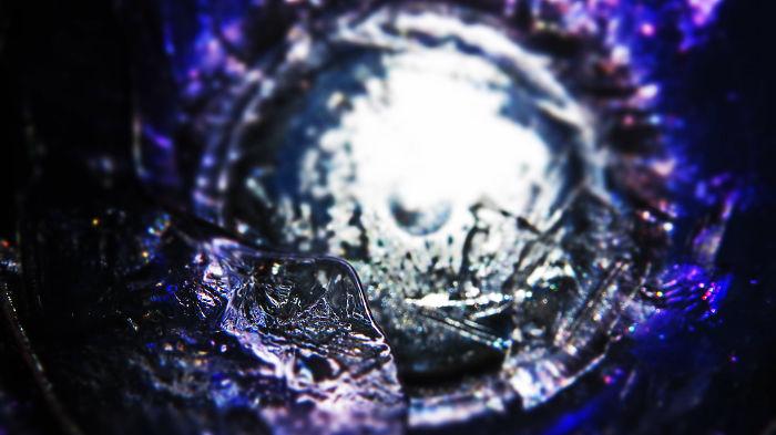 """Amazing Photographs Taken Of Shards Of Ice Entitled, """"violet Shards"""""""