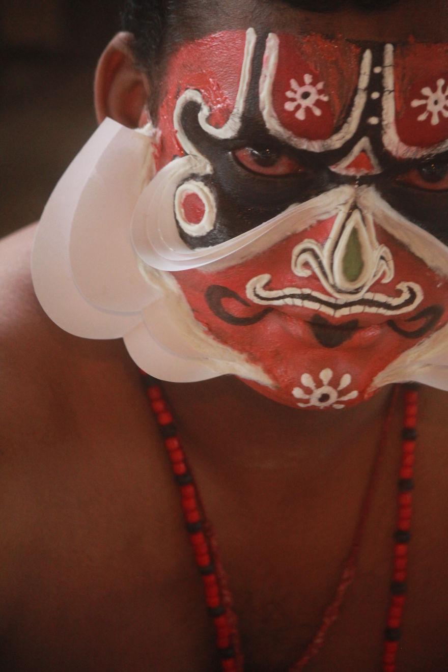 Kathakali Dancer From Kerela