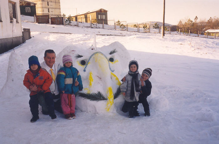 Snow Elephant In Ukraine