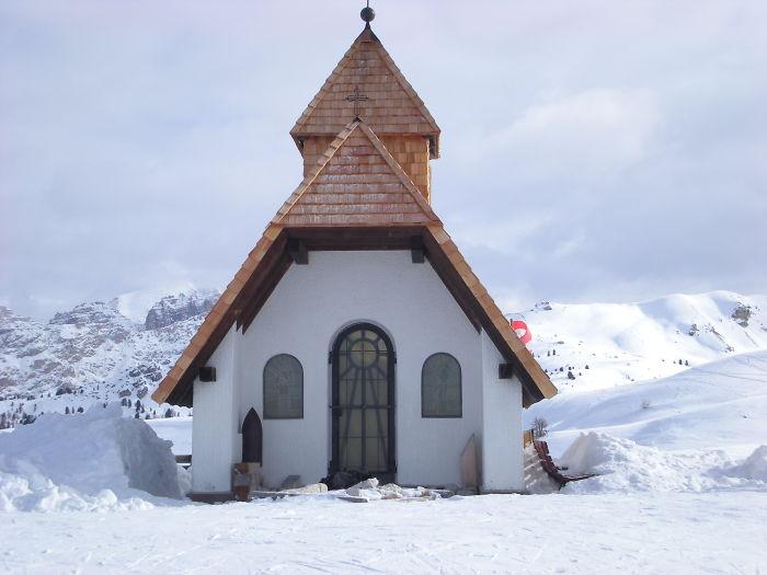 Chapel In Dolomites, Italy