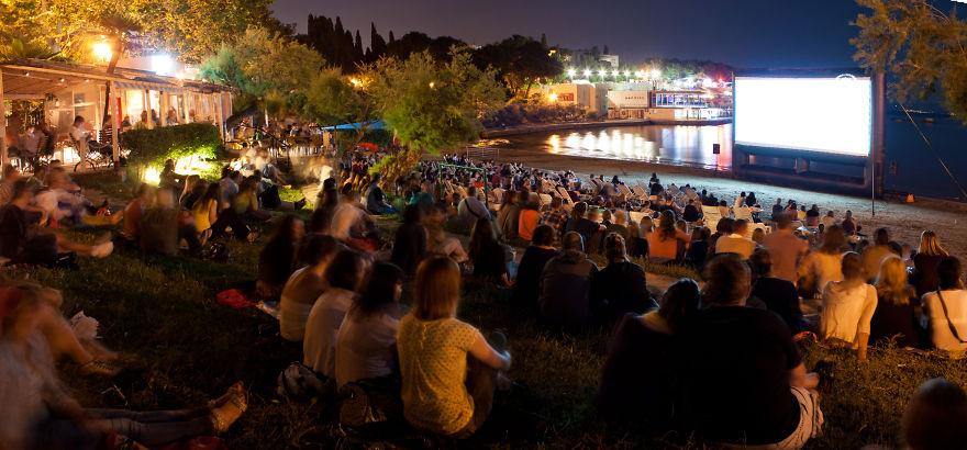 Cinema Bačvice Beach, Split, Croatia (mediterranean Film Festival Split)