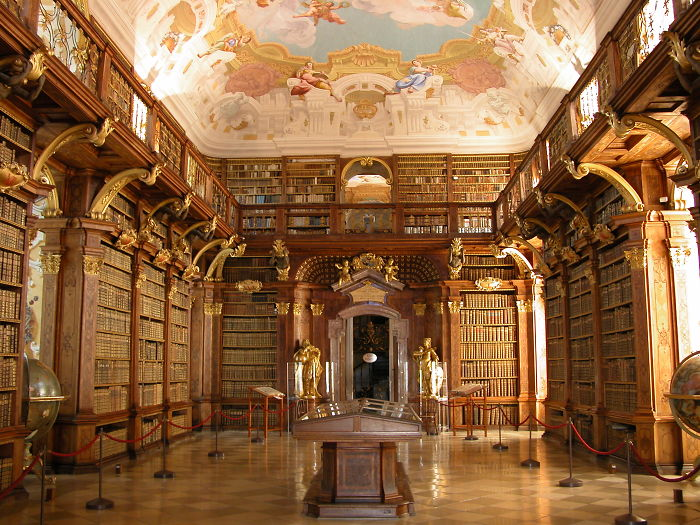 Melk Abbey Library – Melk, Austria