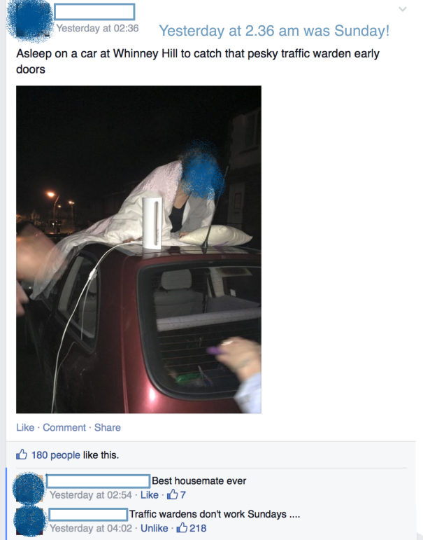 Overheard At Durham Uni Fb Group Post
