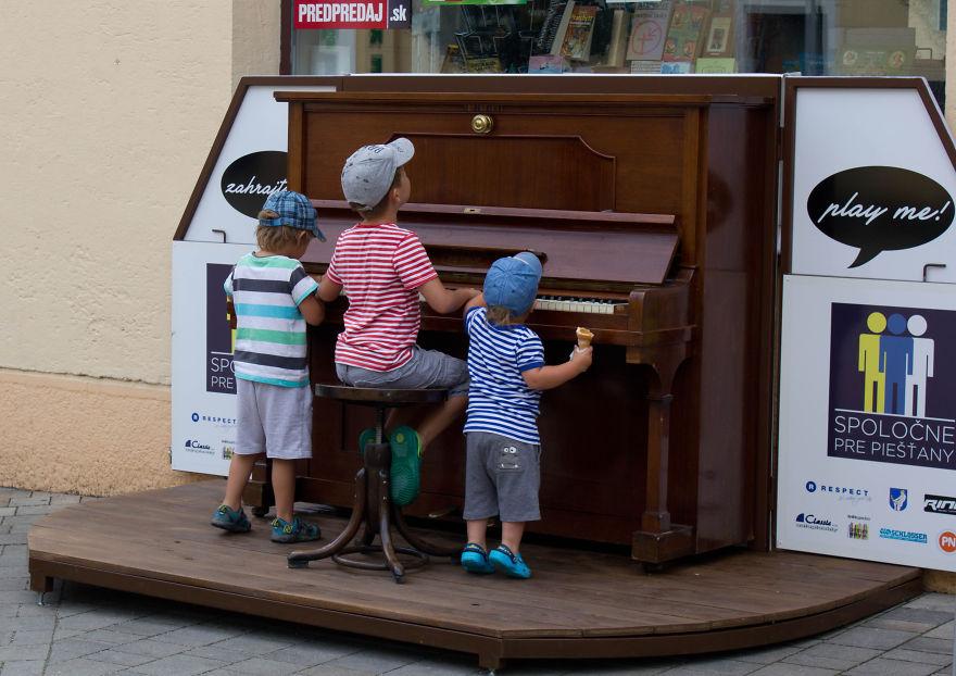 Public Piano In Piešt'any, Slovakia