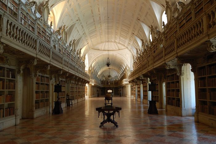 Library At The National Palace In Mafra, Portugal