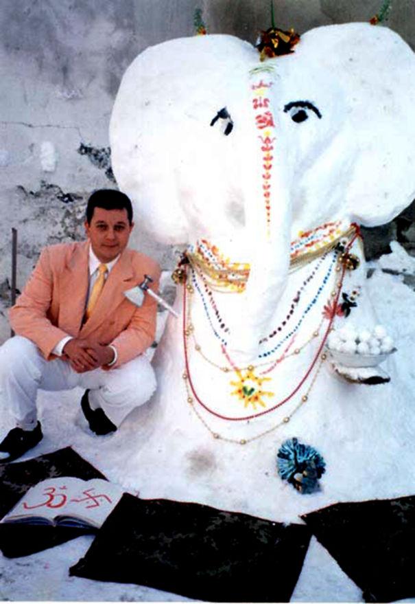 Snow Ganesha
