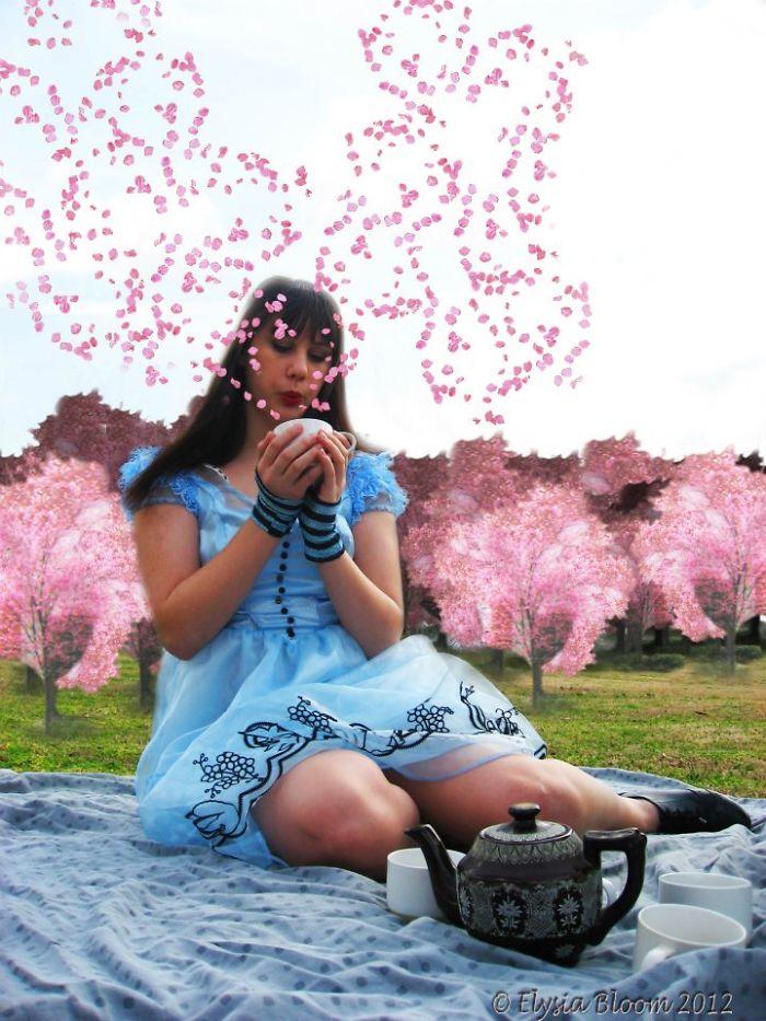 Alice Drinks Cherry Blossom Tea