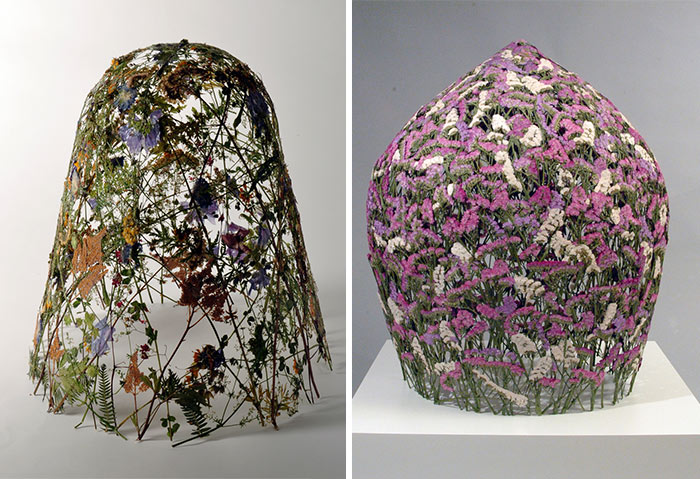 Spanish Artist Creates Delicate Pressed Flower Sculptures From The Most Famous European Gardens