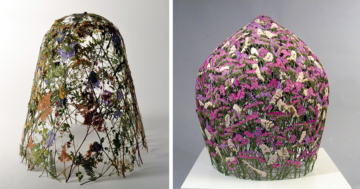 spanish artist creates delicate pressed flower sculptures from the most famous european gardens bored panda artist creates mobile homes