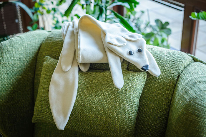 My Handmade Polar Fox Scarf