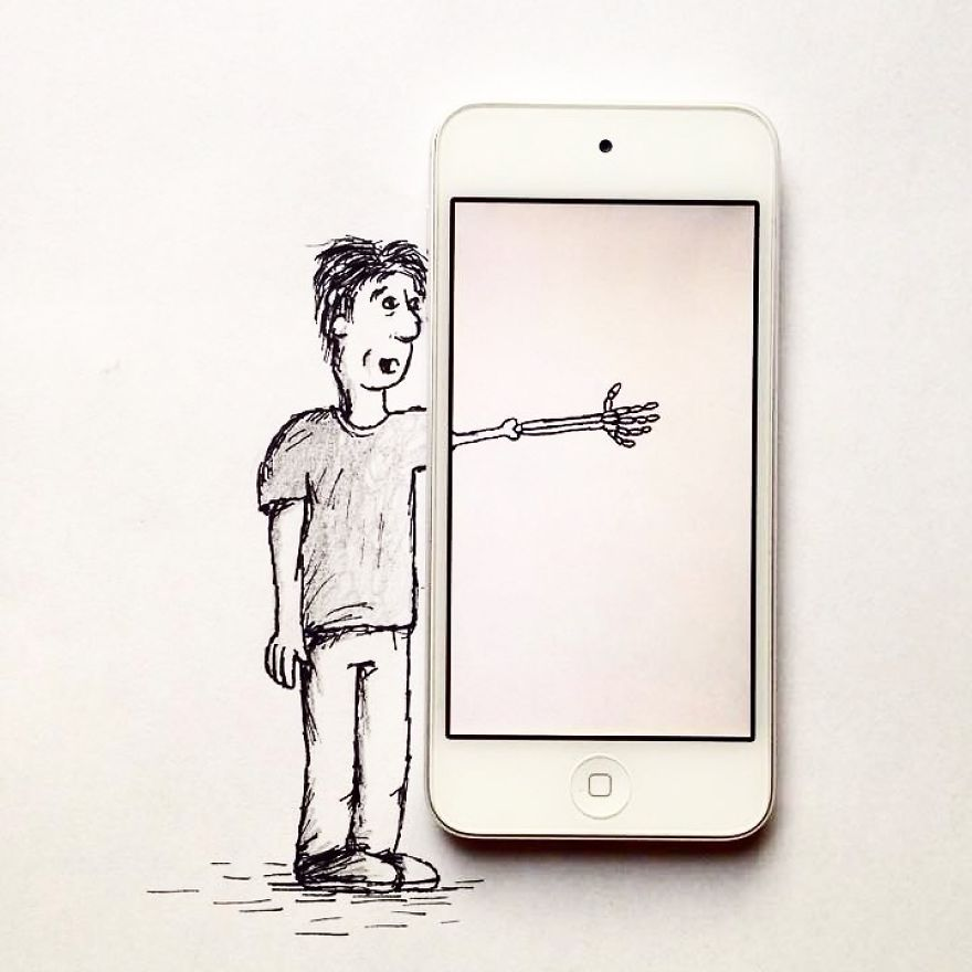 17-Year-Old Artist Creates Interactive Illustrations Using Everyday Objects