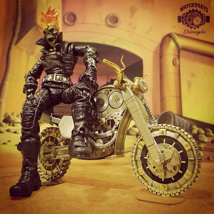 I Make Miniature Motorcycles And Place Action Figures On Them