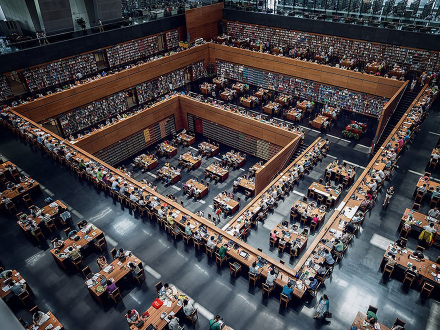 La Biblioteca Nacional de China, Beijing, China