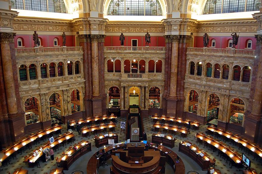The Library Of Congress, Washington, D.c., Usa