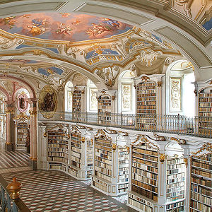 The Admont Library, Admont, Austria