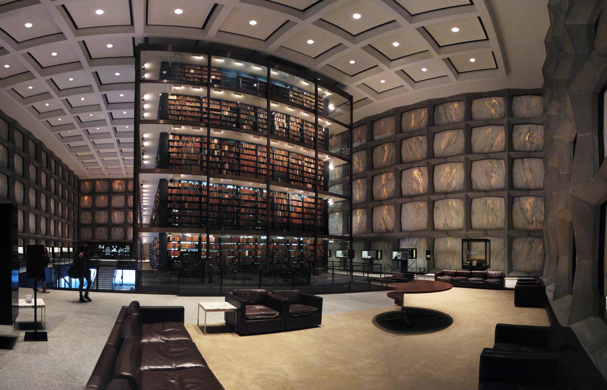 Beinecke Rare Book & Manuscript Library, Yale University, Connecticut, Usa