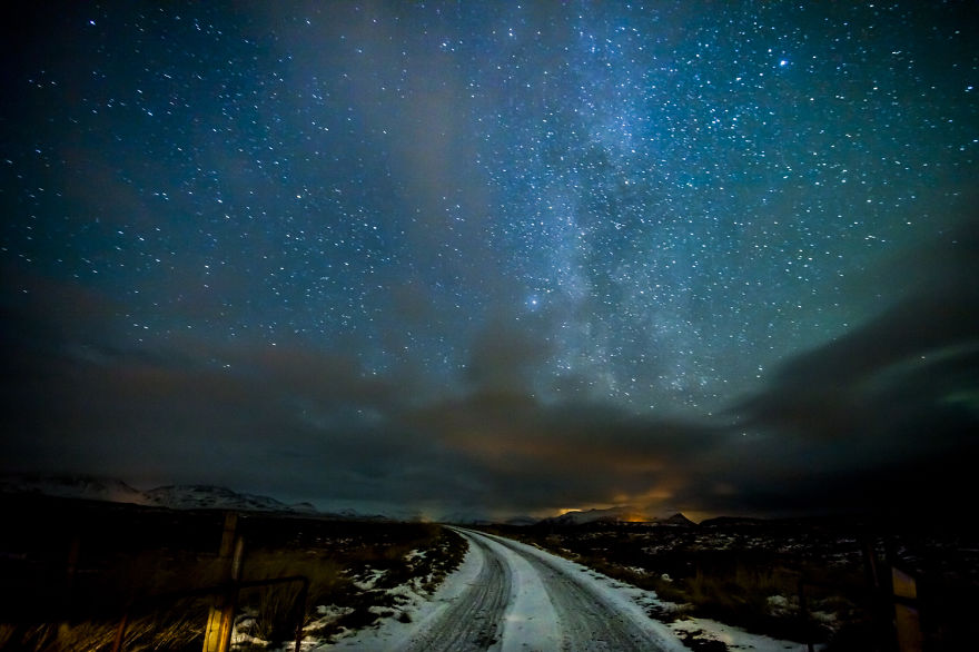 Night Sky Right Outside Stykkishólmur, Iceland