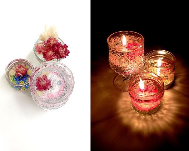 Flower Gel Candle