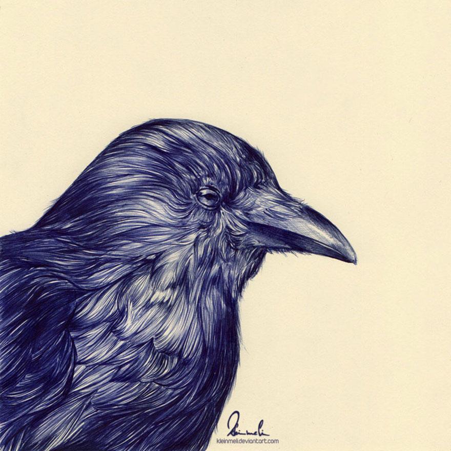 Ballpoint Pen Black Crow