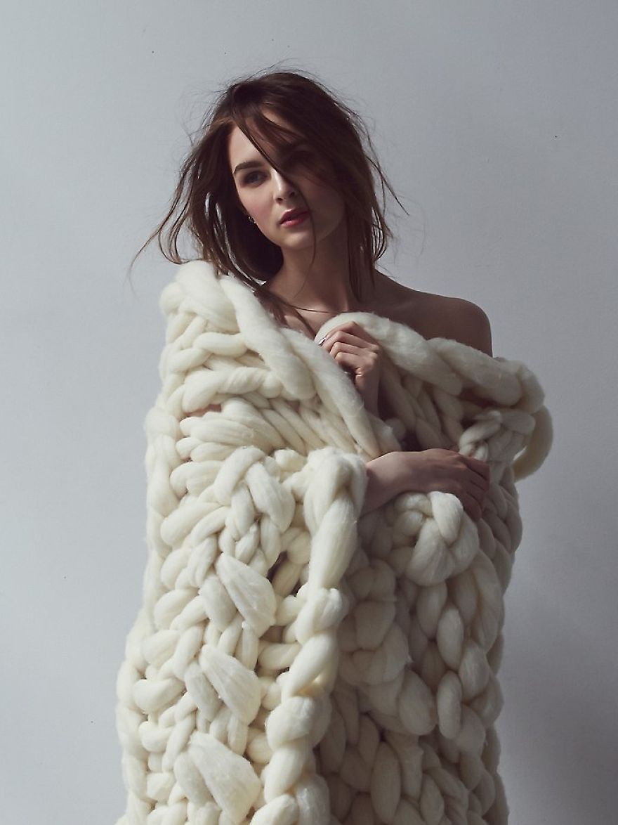 How to knit from fur