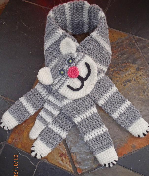 Crochet Neck Warmer Kitty The Huger By Fibreromance