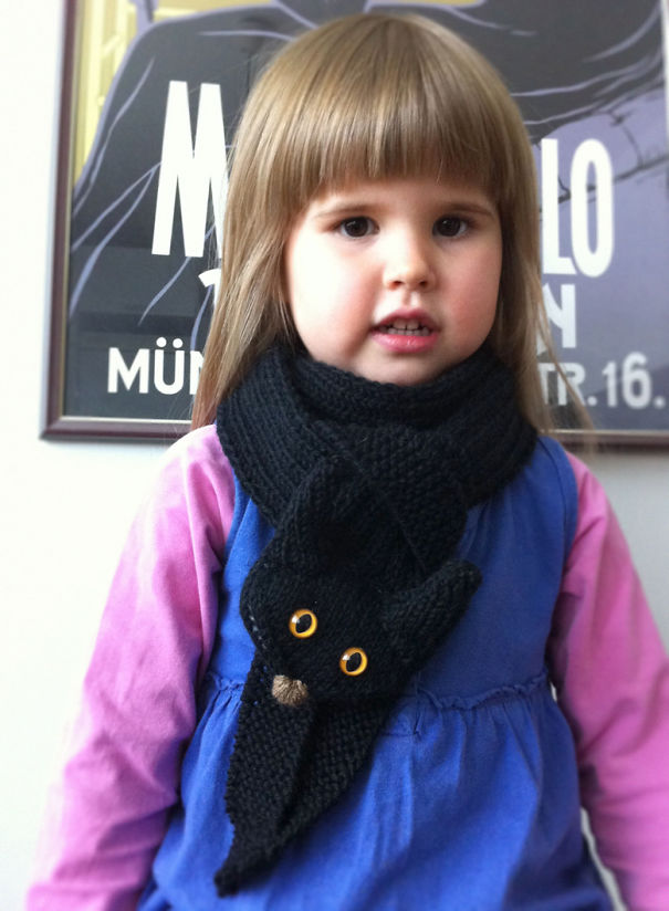 Black Cat Scarf For Kids And Adults