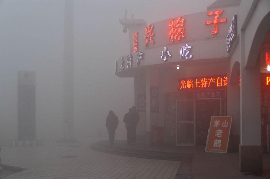 Morning Smog In Beijing
