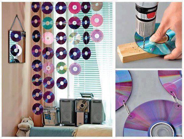 Curtain Decoration With Cds