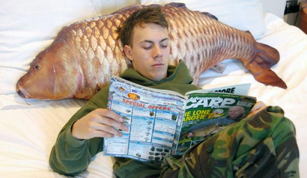Realistic Fish Pillow