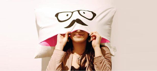 Moustache Cover Pillow