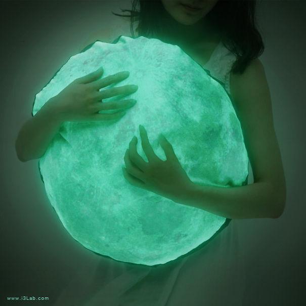 Glow In The Dark Moon Pillow