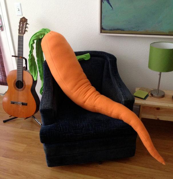 Giant Carrot Body Pillow