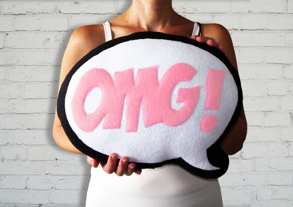 Comic Bubble Pillows