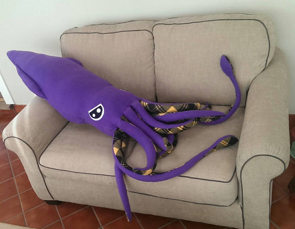 Giant Squid Pillow