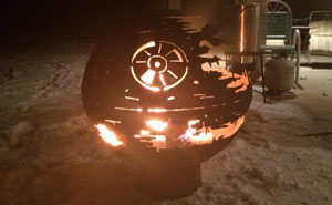 84-Year-Old Grandpa Creates A Metal Death Star Firepit For His Grandchildren
