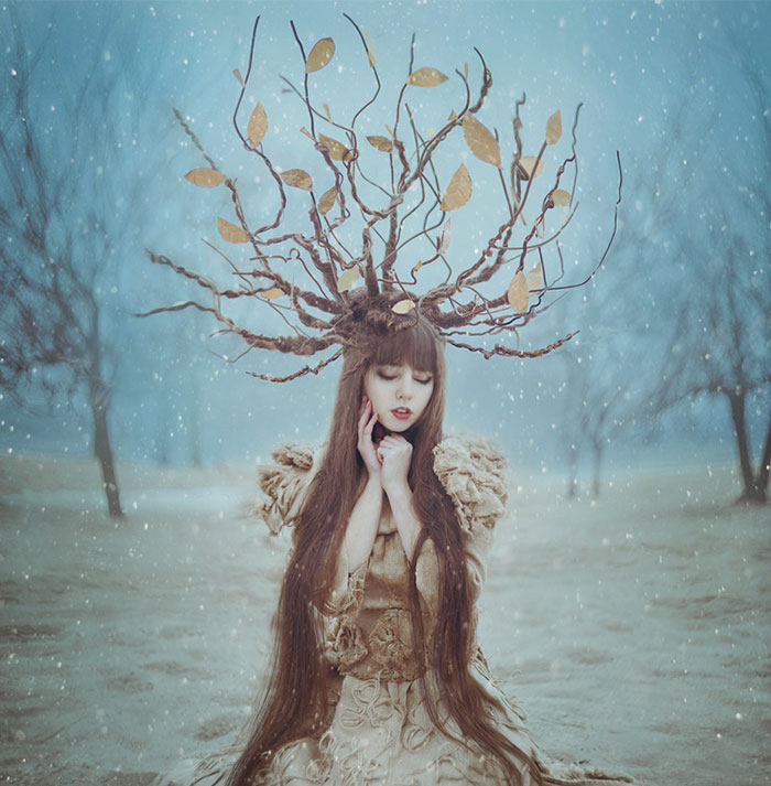 Ukrainian Photographer Brings Fairytales To Life In Magical Portraits Of Women With Animals