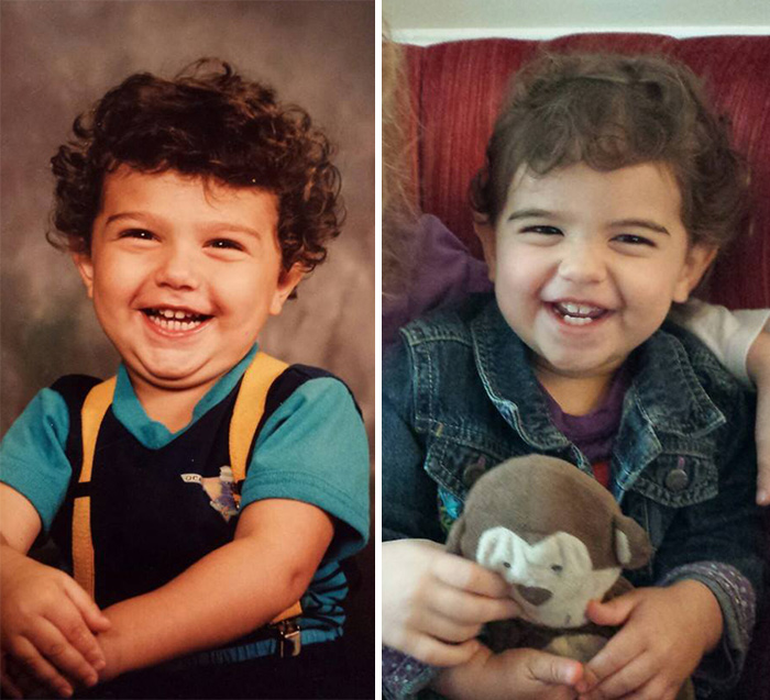 272 Side-By-Side Photos Of Parents And Their Kids At The Same Age