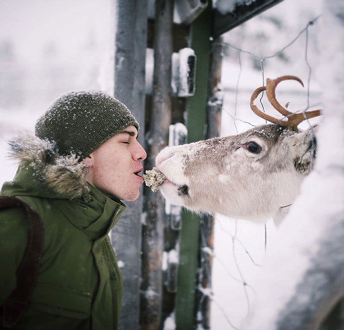 Finnish Squirrel-Whisperer Feeds Wild Animals For Cute Wildlife Photos