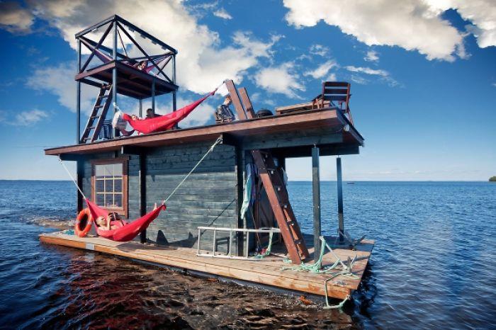 Laze The Weekend Away On The Saunalautta Floating Sauna Raft