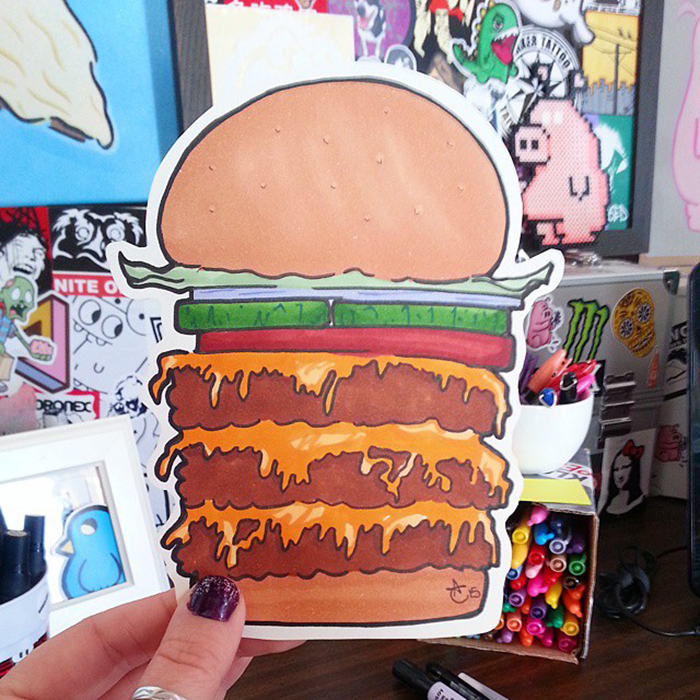 I Draw Cute Food Stickers With Pens And Markers