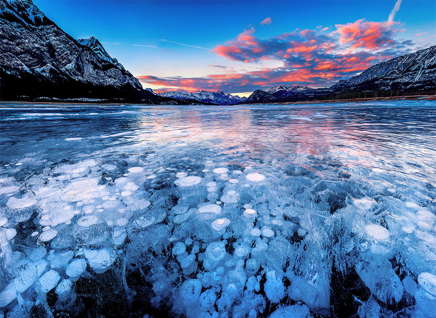 Abraham Lake In Alberta, Canada